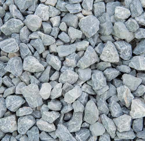 Large rocks of limestone ready for processing