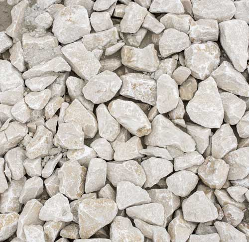 Fine Ground Calcium Carbonate comes from larger blasted pieces of rock and aggregate at Linwood Mining
