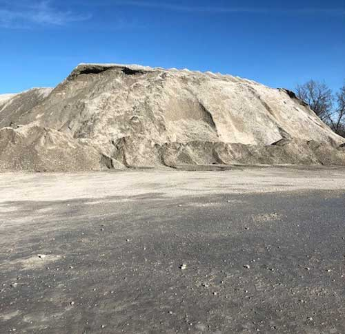 Large pile of limestone aggregate at Linwood Mining